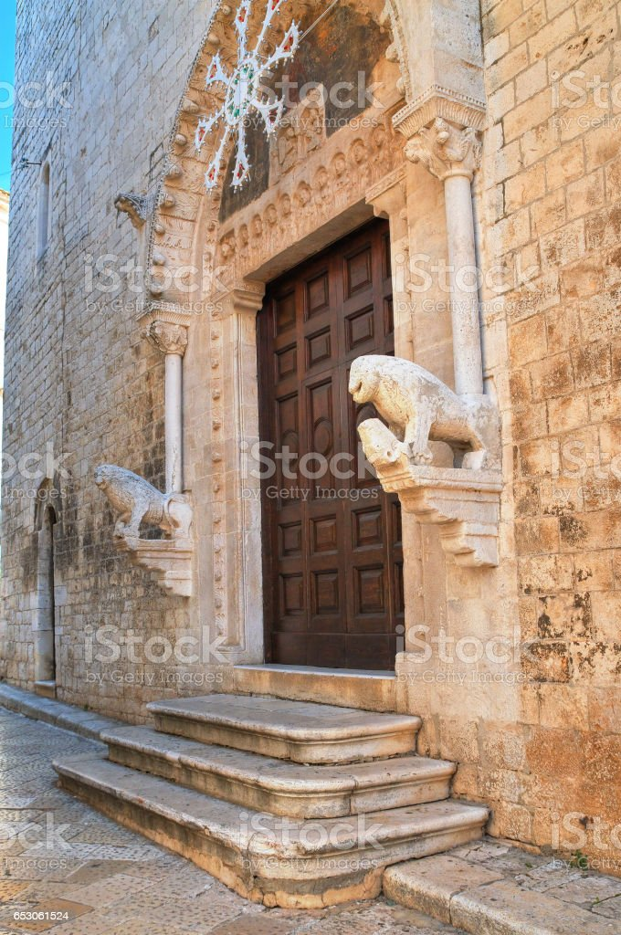 Mother church of St. Nicola. Rutigliano. Puglia. Italy. stock photo