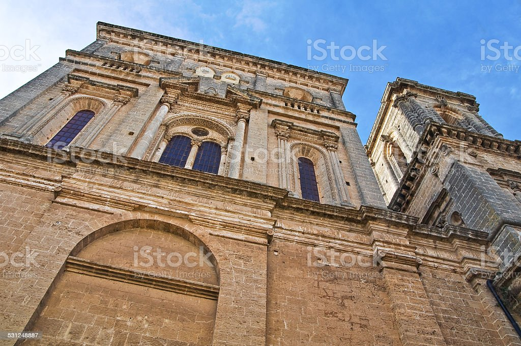 Mother church of the Assumption. Galatone. Puglia. Italy. stock photo