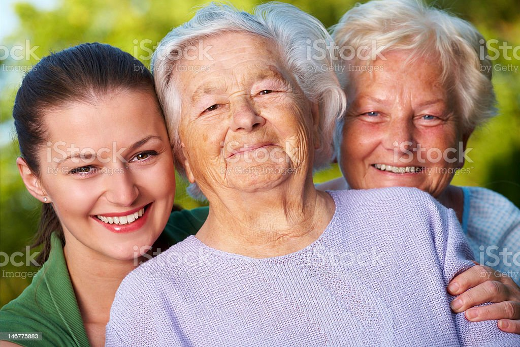 Mother, daughter and granddaughter royalty-free stock photo