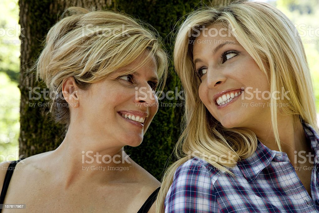 mother daughter friends royalty-free stock photo