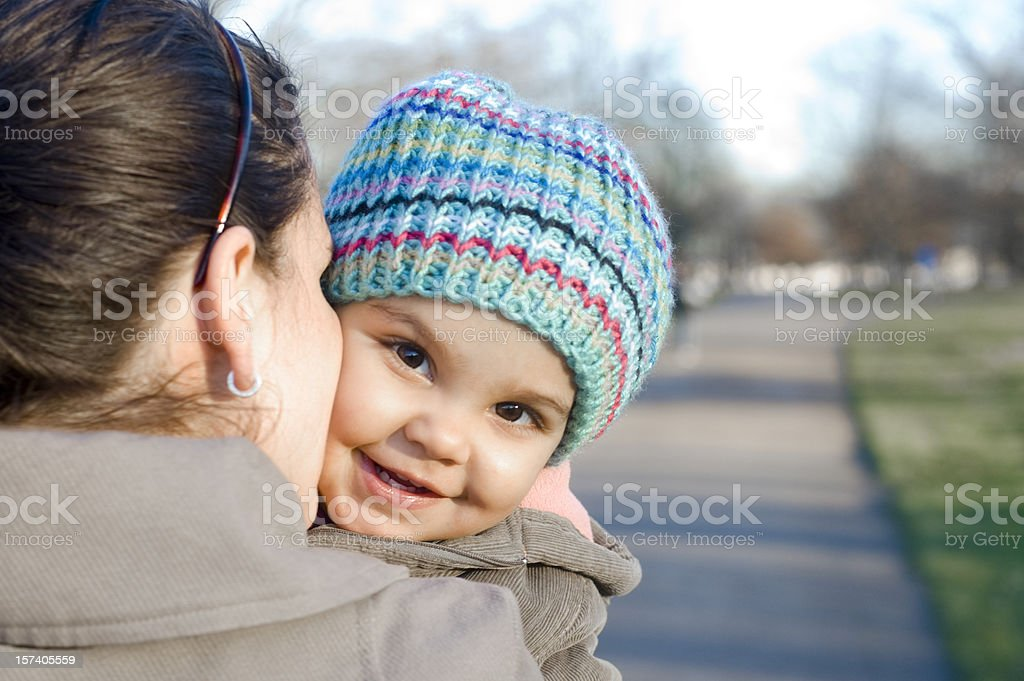 Mother & Daughter Having a Cuddle royalty-free stock photo