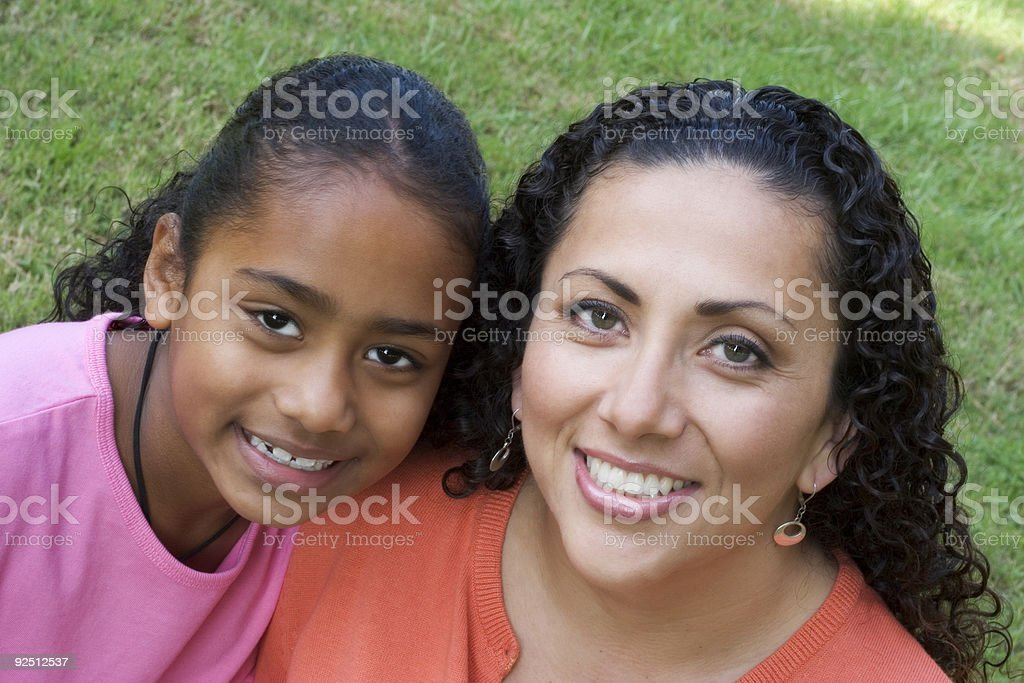 Mother & Daughter royalty-free stock photo