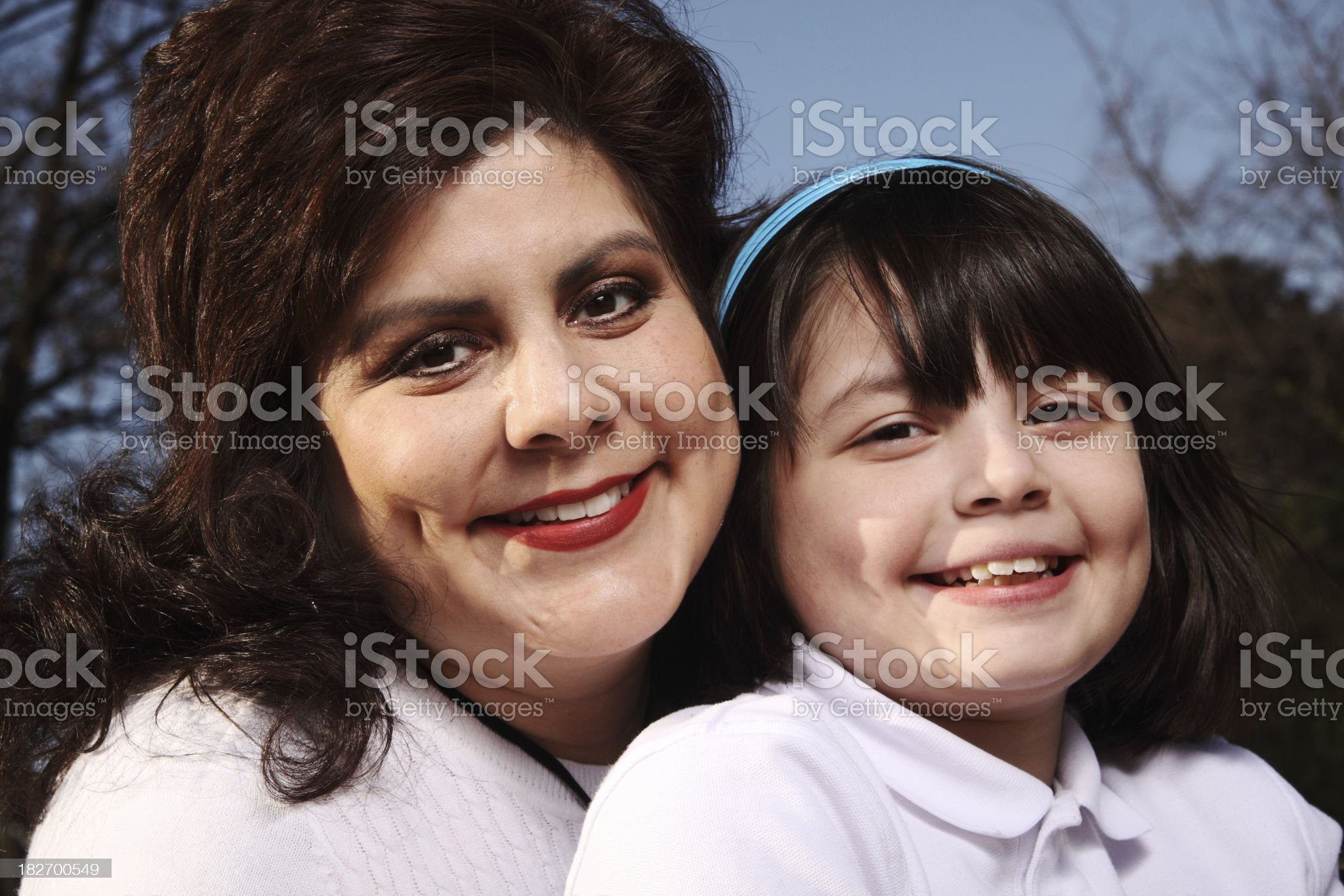 Mother Daughter Portrait royalty-free stock photo
