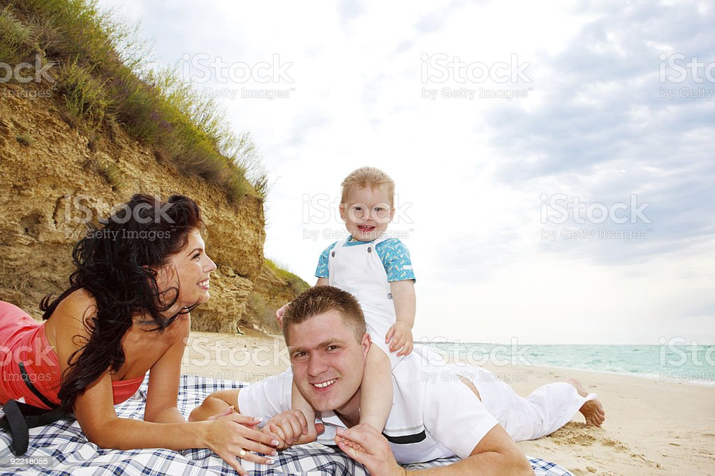 Mother, father and baby royalty-free stock photo