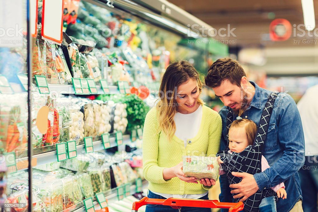 Mother Grocery Shopping. stock photo