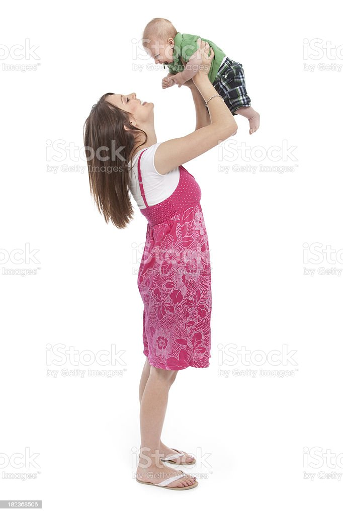 Mother Holding Baby royalty-free stock photo