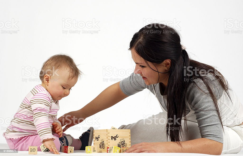 mother holding baby #5 royalty-free stock photo