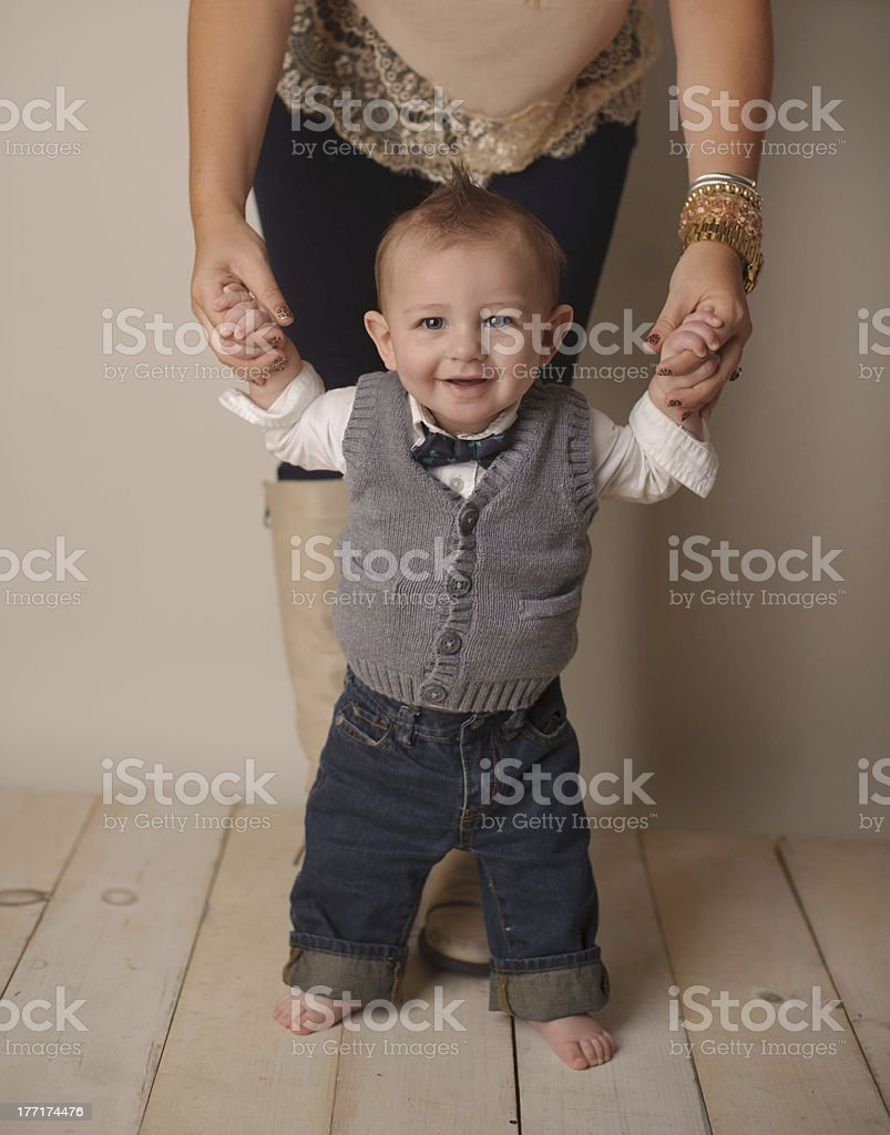 Mother Holding Baby's Hands royalty-free stock photo