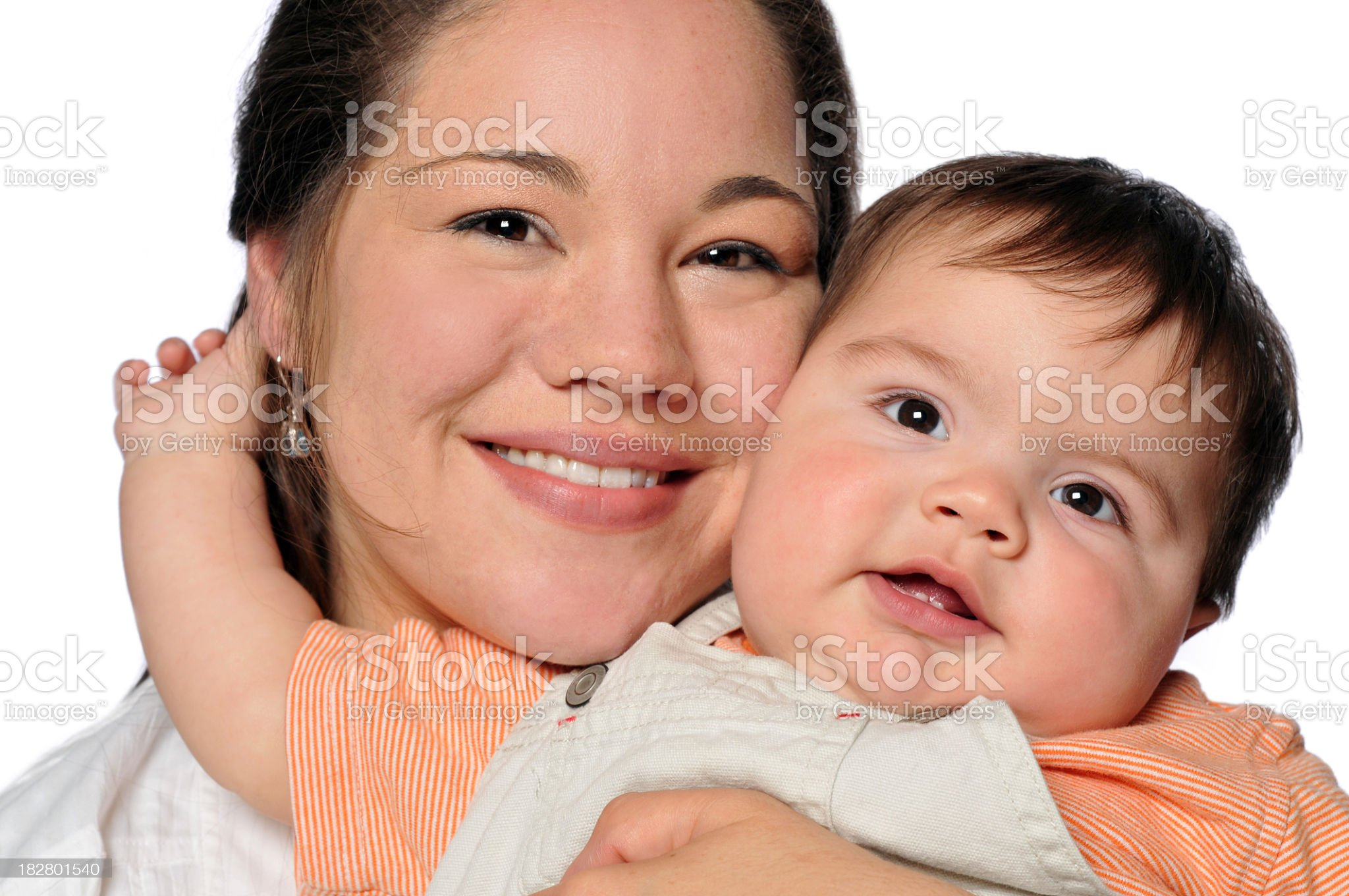 Mother Holding Her Son Close royalty-free stock photo