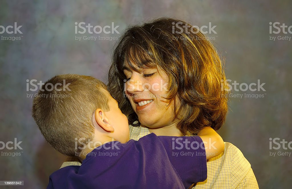 Mother Holding Son 2 royalty-free stock photo