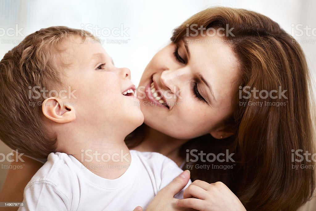 mother hugging her little son royalty-free stock photo