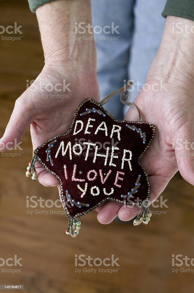 Mother I love you stock photo