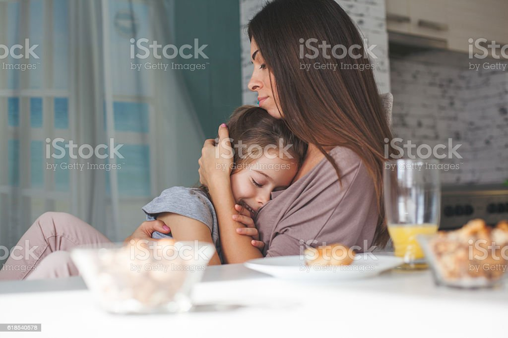 Mother is the best friend stock photo