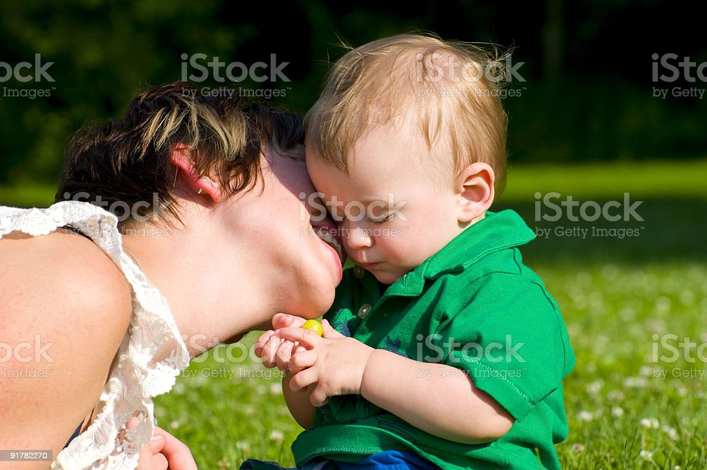 mother kiss royalty-free stock photo