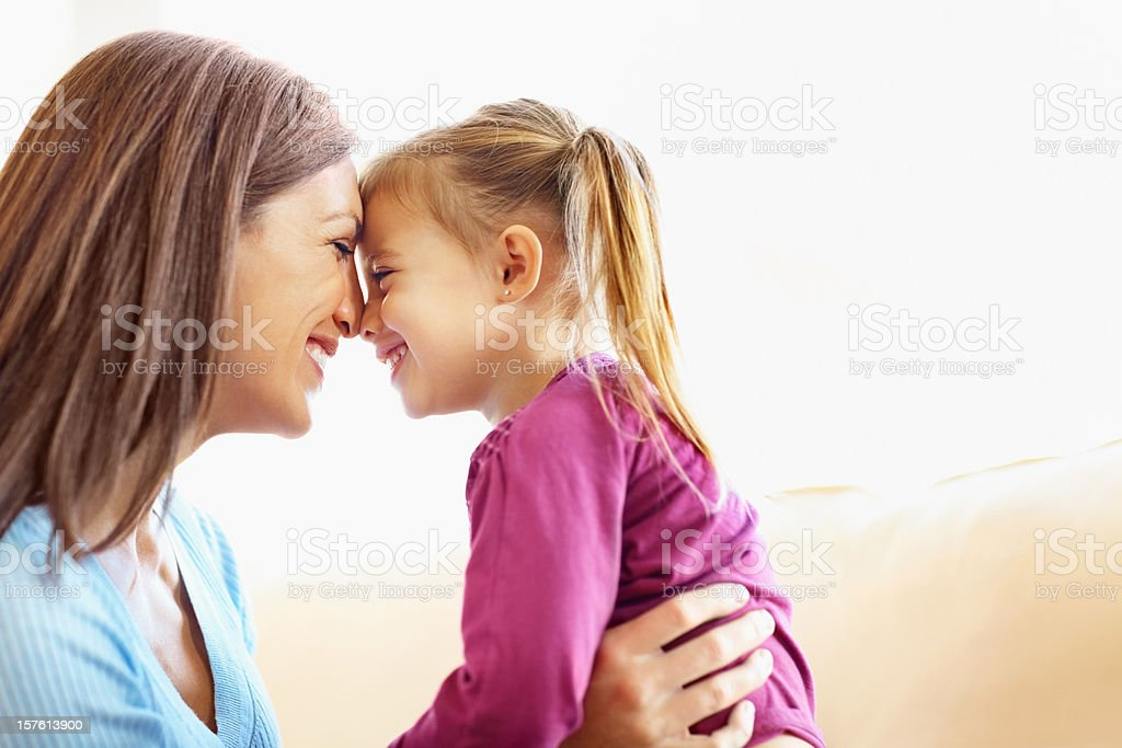 Mother loving her daughter with copy space royalty-free stock photo
