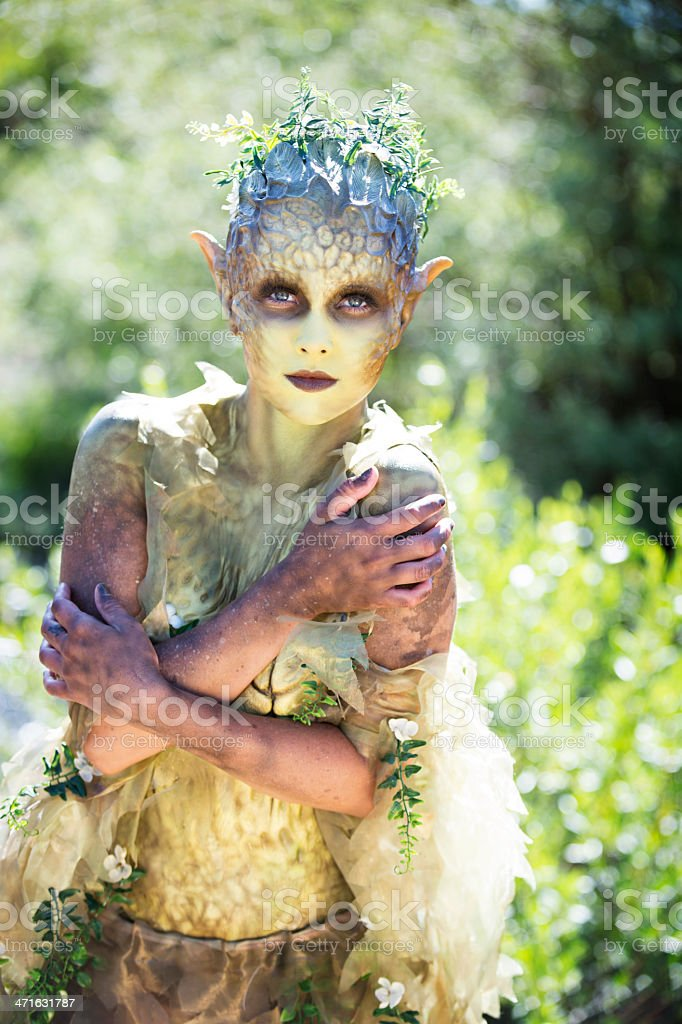 Mother Nature Nymph Protecting Herself royalty-free stock photo