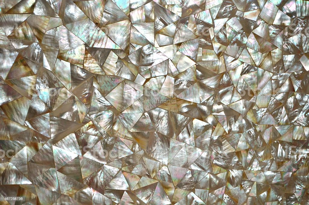 Mother of Pearl abstract mosaic background stock photo