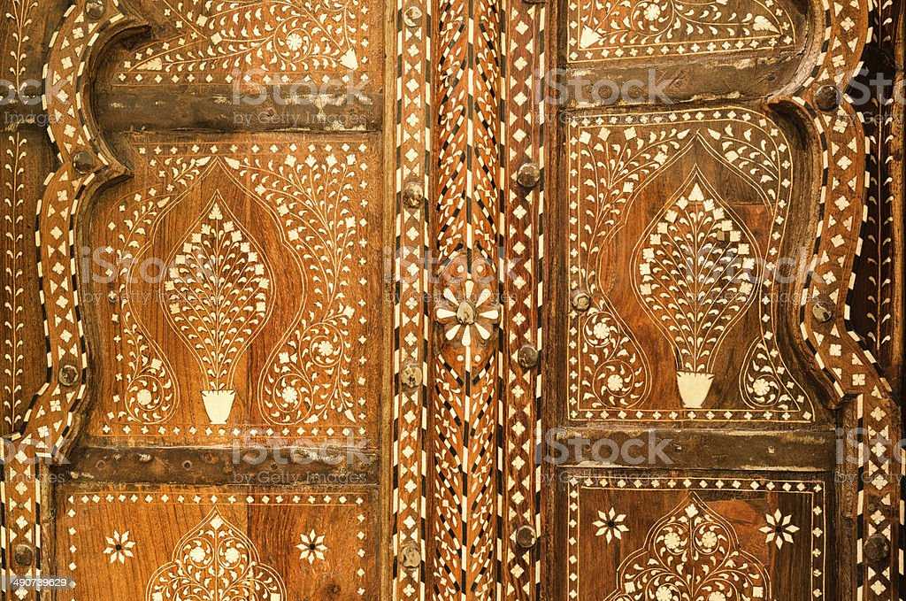 Mother of Pearl Inlaid Wood Processing stock photo