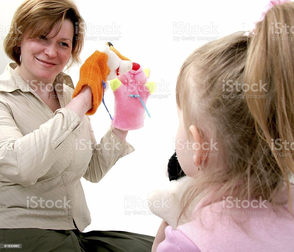 mother play with daughter royalty-free stock photo
