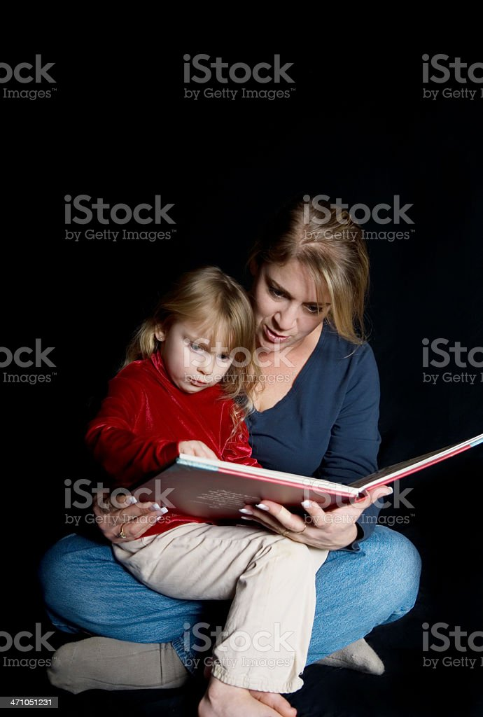 Mother Reading To Her Child royalty-free stock photo
