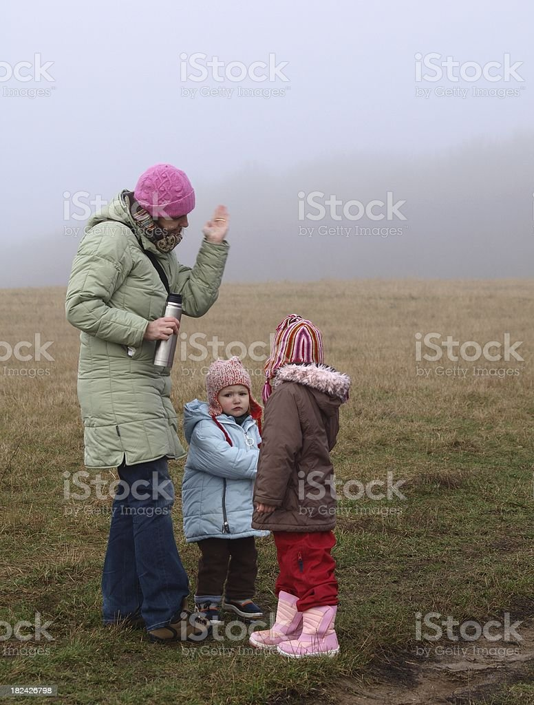 Mother reproach children royalty-free stock photo