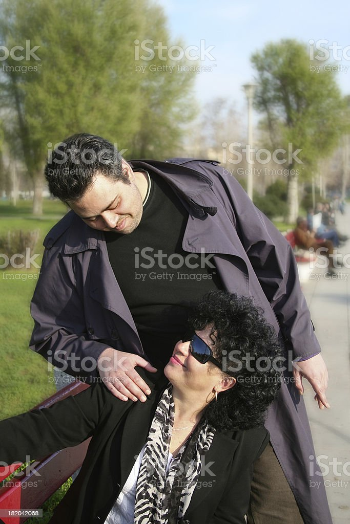 Mother & son royalty-free stock photo