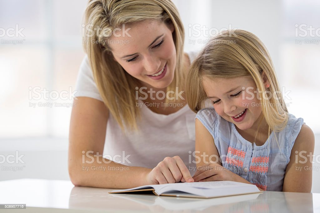 Mother Spending Quality Time with Her Daughter stock photo