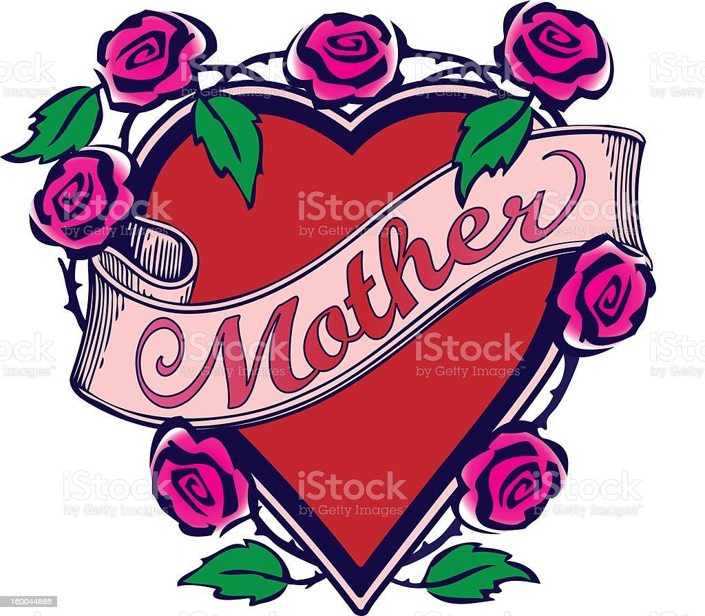 Mère tatouage Design photo libre de droits