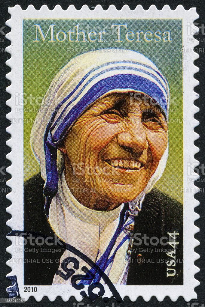 Mother Teresa Stamp royalty-free stock photo