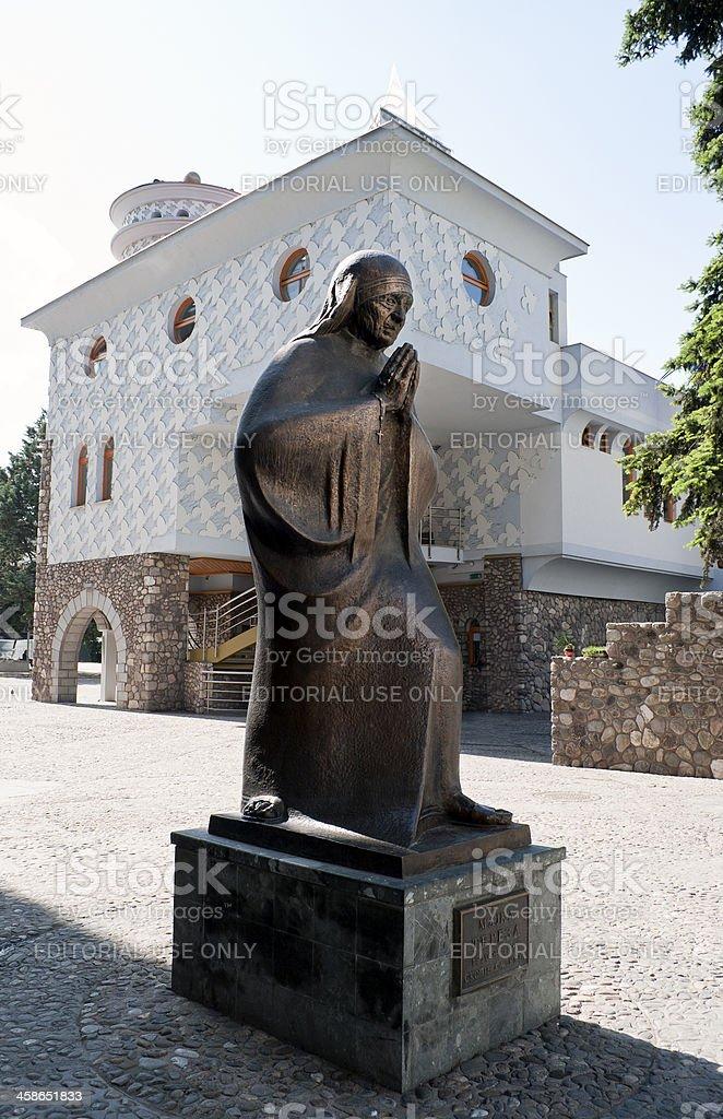 Mother Teresa Statue Memorial House in Skopje royalty-free stock photo
