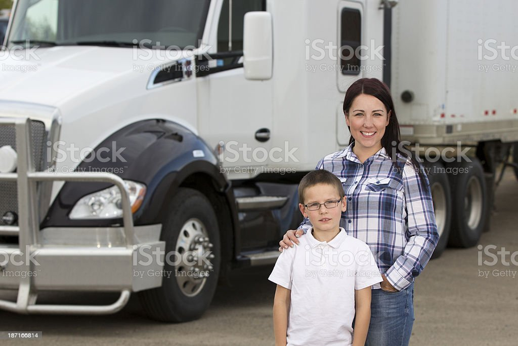 Mother Trucker royalty-free stock photo