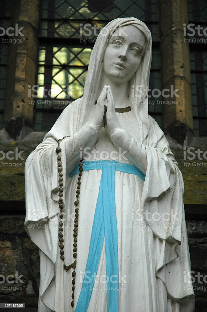 Mother Virgin Mary Statue royalty-free stock photo