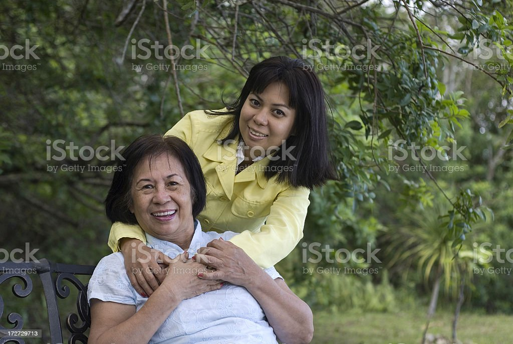 Mother With Adult Daughter royalty-free stock photo
