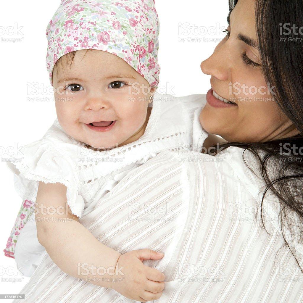 Mère avec sa petite fille. photo libre de droits