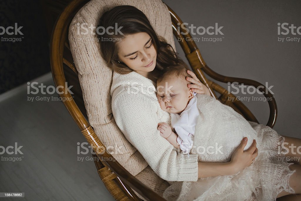 Mutter mit baby Lizenzfreies stock-foto