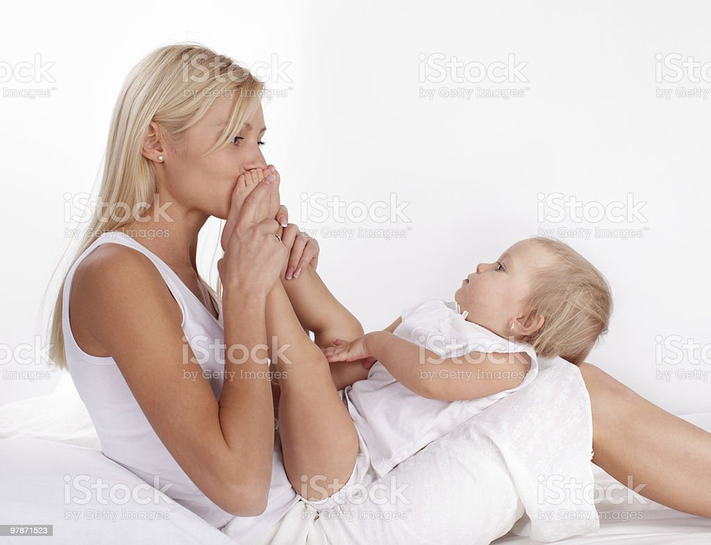 Mother with baby royalty-free stock photo