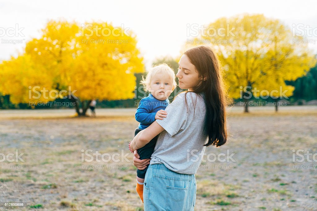 Mother with child stock photo