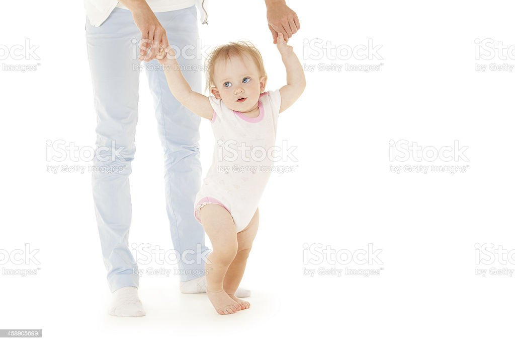 Mother with daughter on the white background. royalty-free stock photo