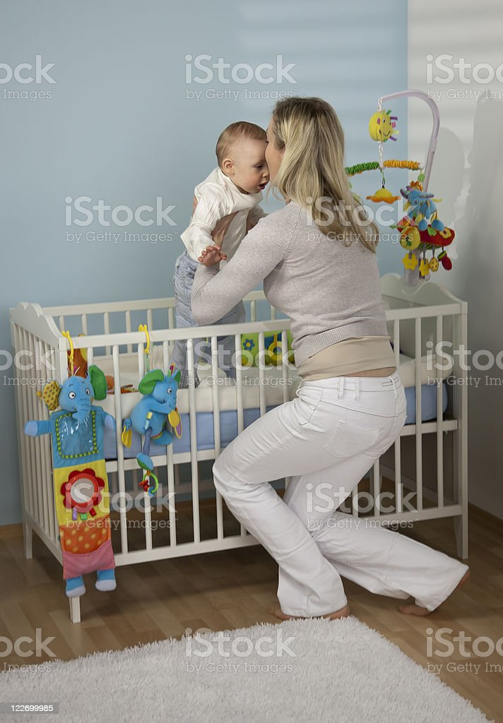 Mother With Her Baby Boy stock photo