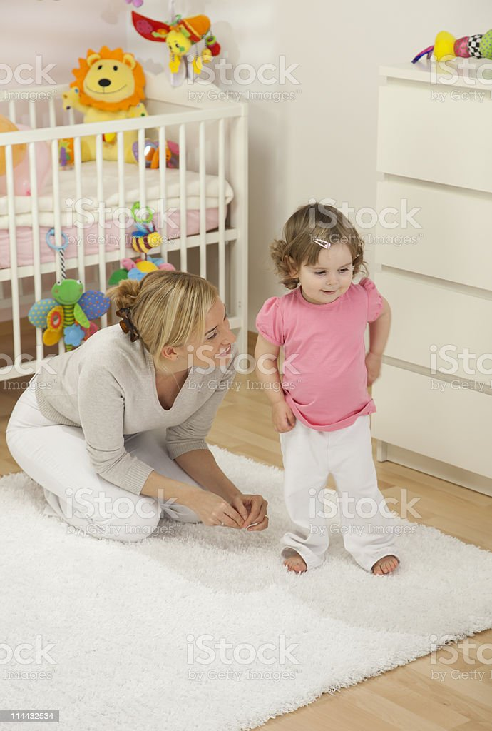 Mother With Her Baby Girl royalty-free stock photo