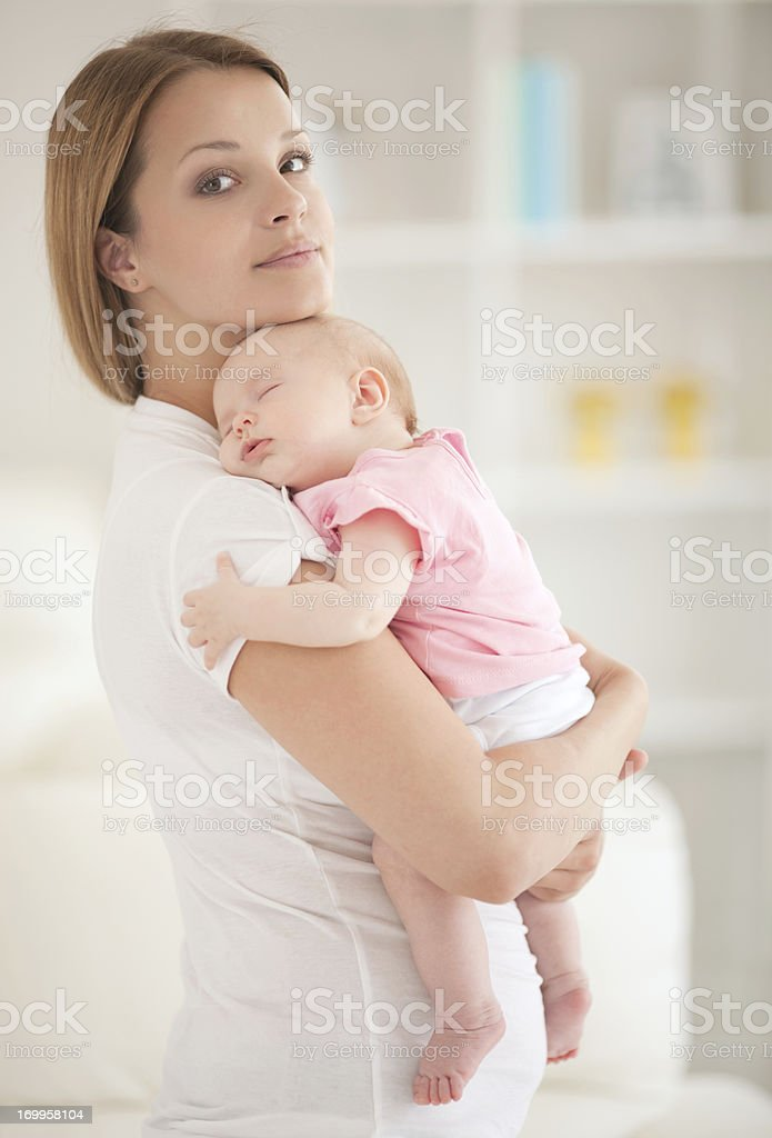 Mother with her baby girl. royalty-free stock photo