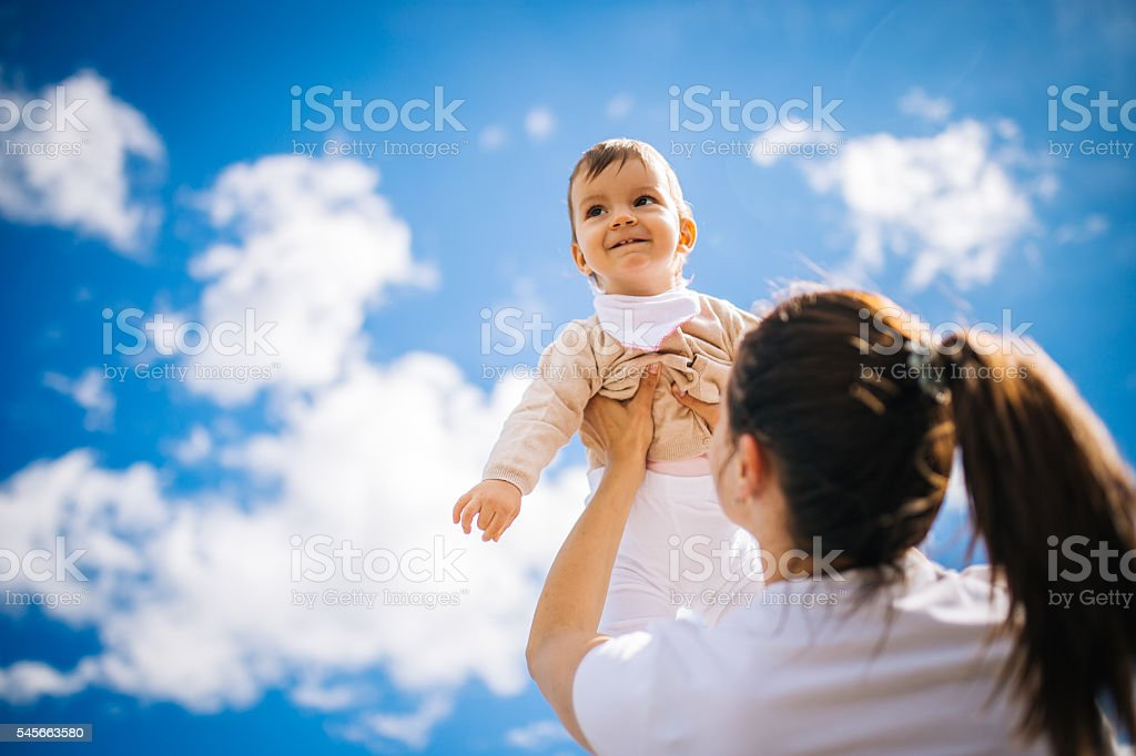 Mother with her baby stock photo
