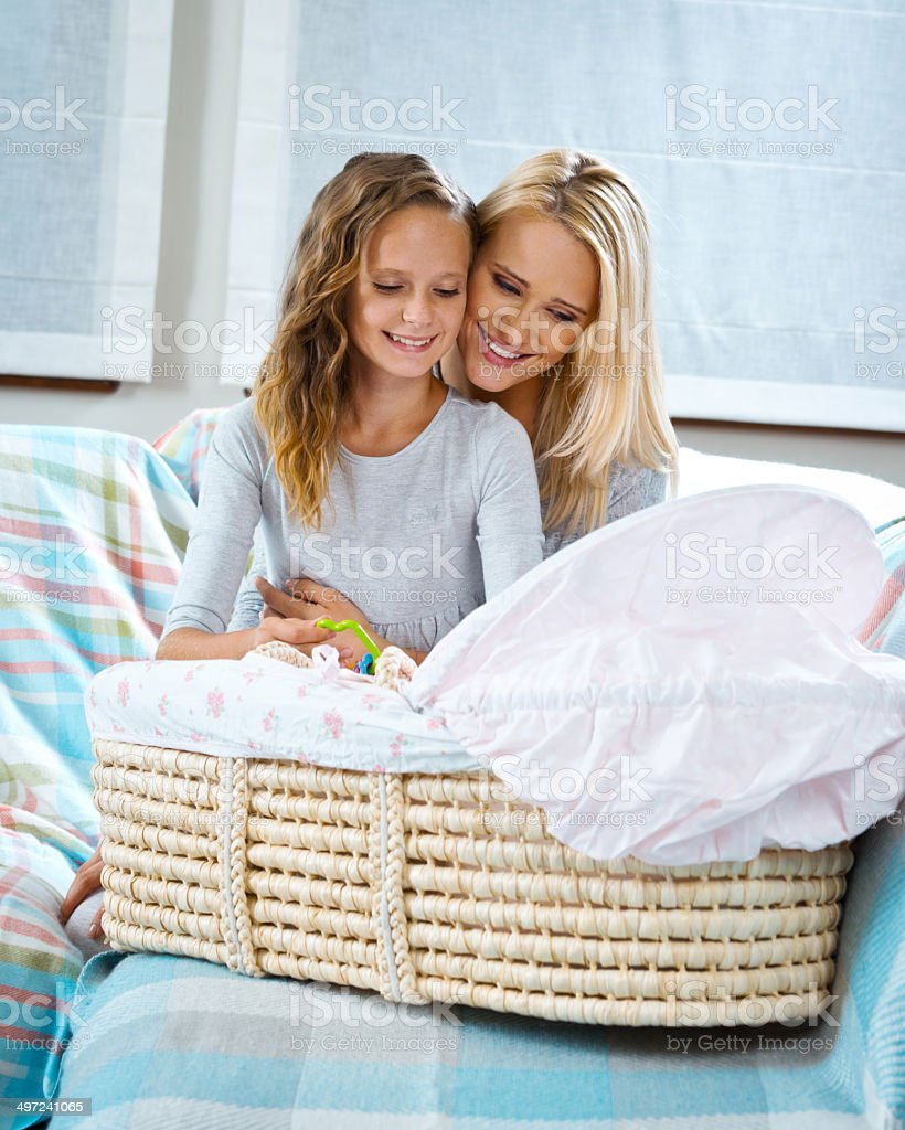 Mother with her children stock photo