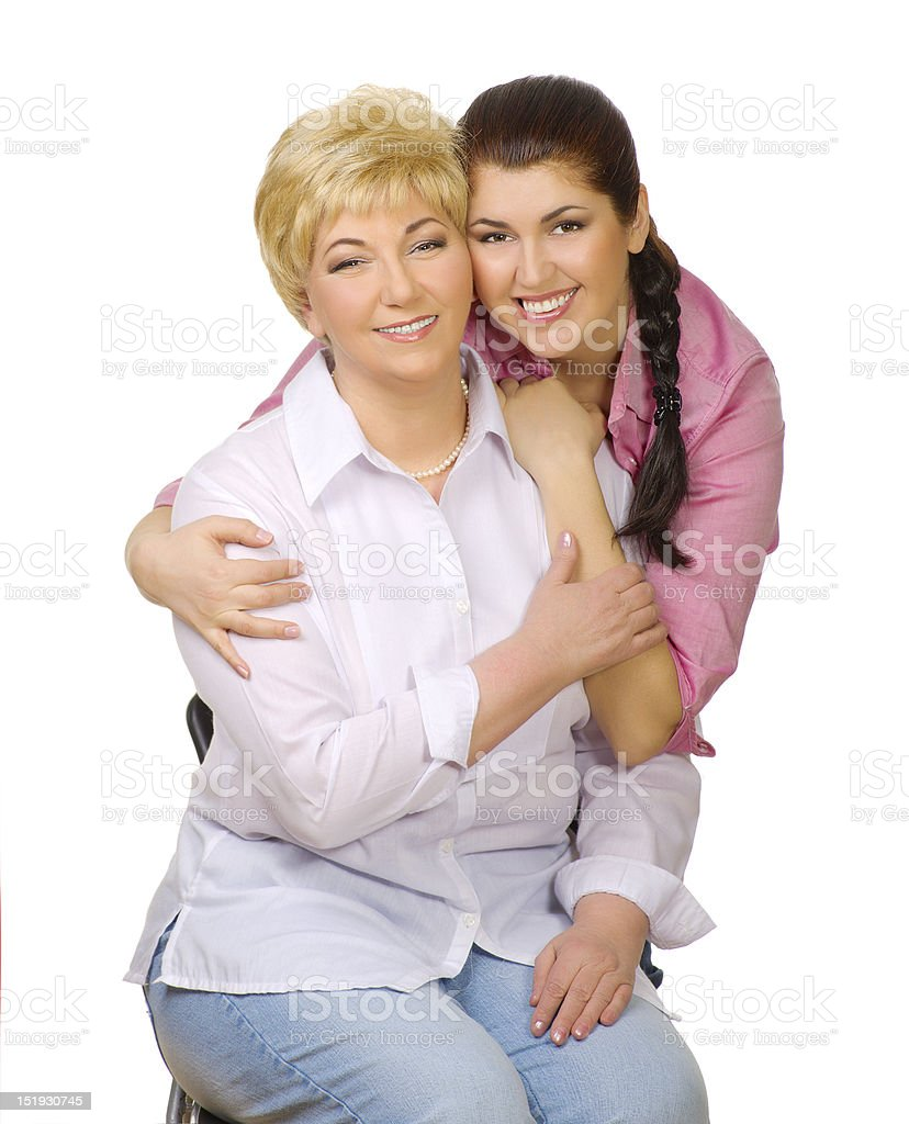 Mother with her daughter royalty-free stock photo