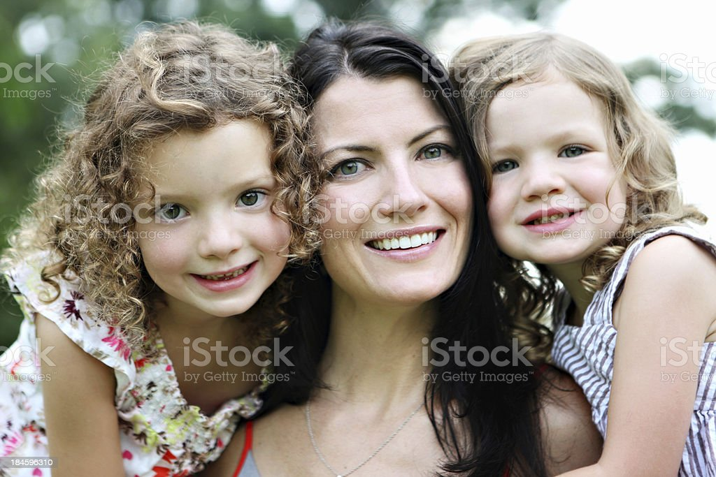 Mother with her daughters royalty-free stock photo