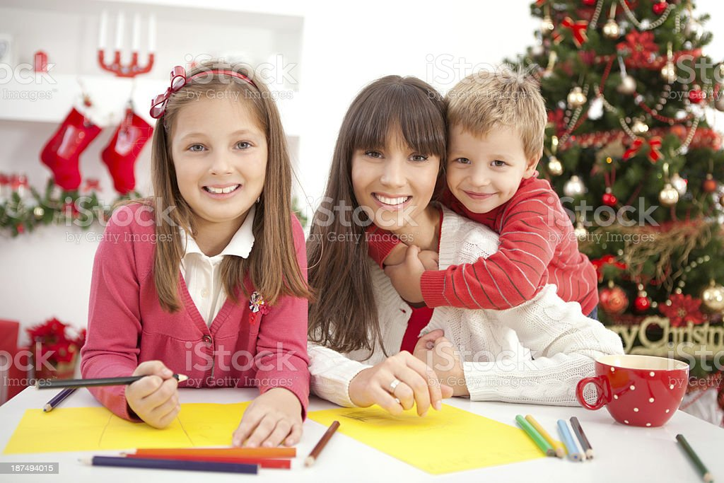 Mother with kids. royalty-free stock photo