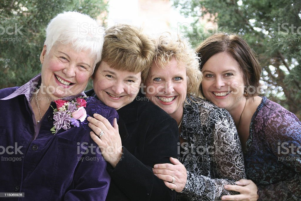 Mother with Three Grown Daughters royalty-free stock photo