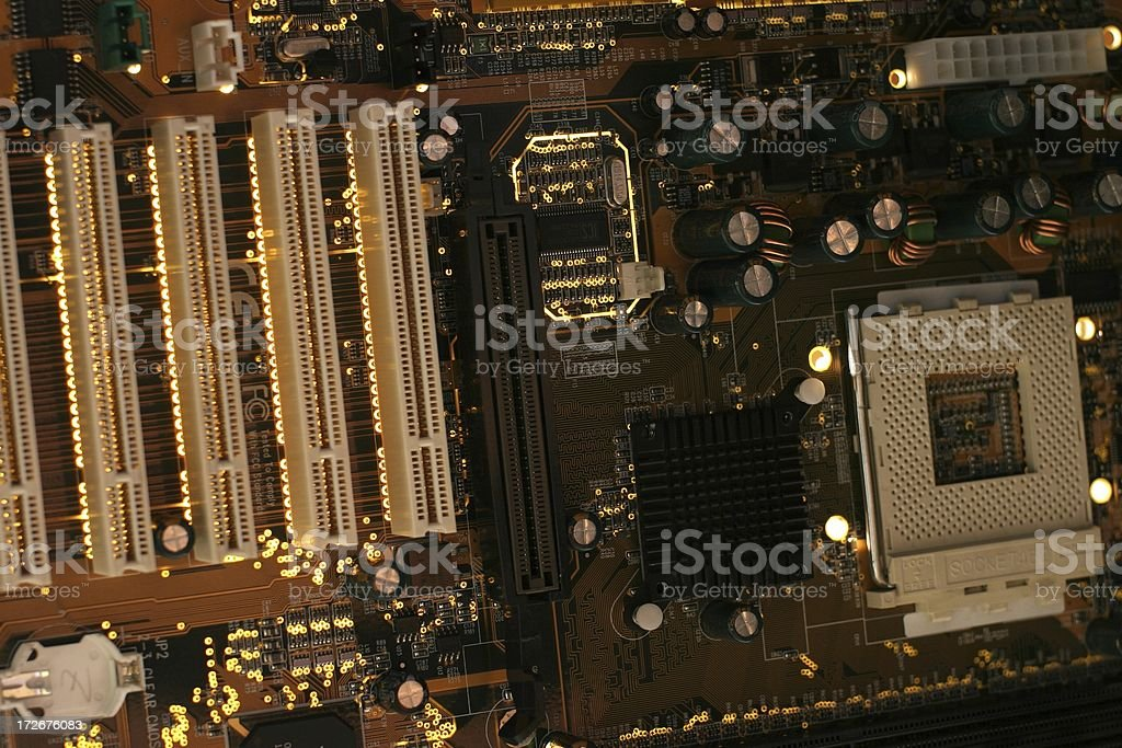 motherboard backlighted royalty-free stock photo