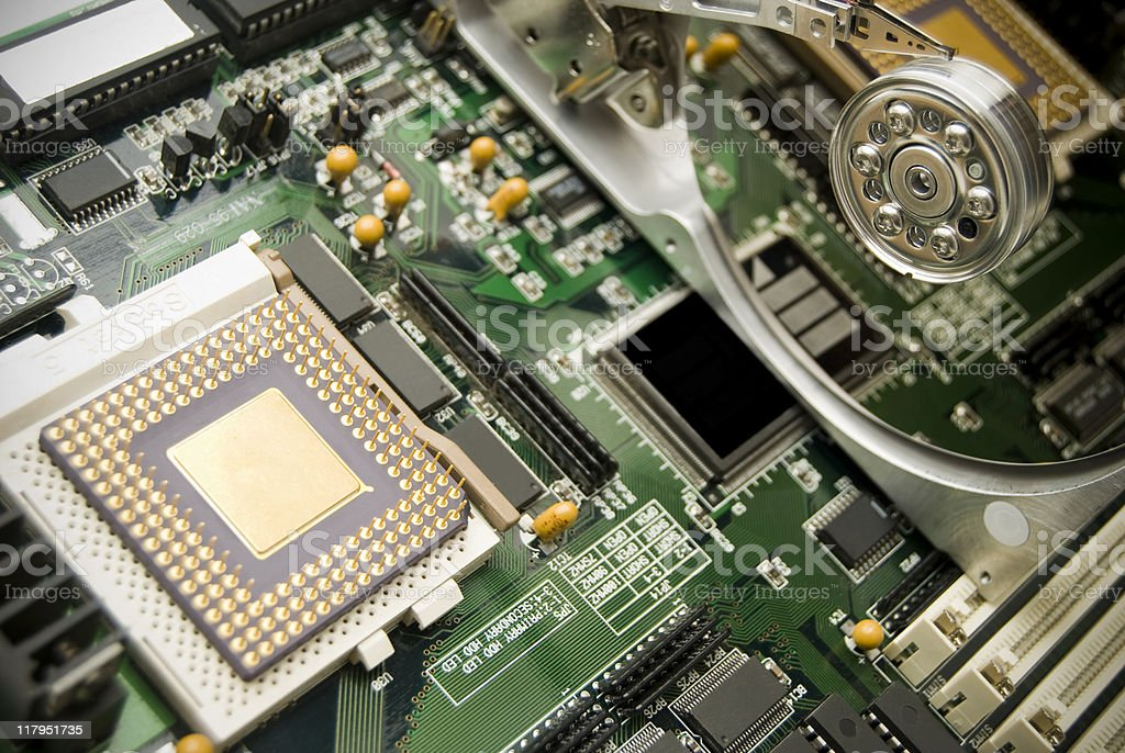 Motherboard close-up royalty-free stock photo