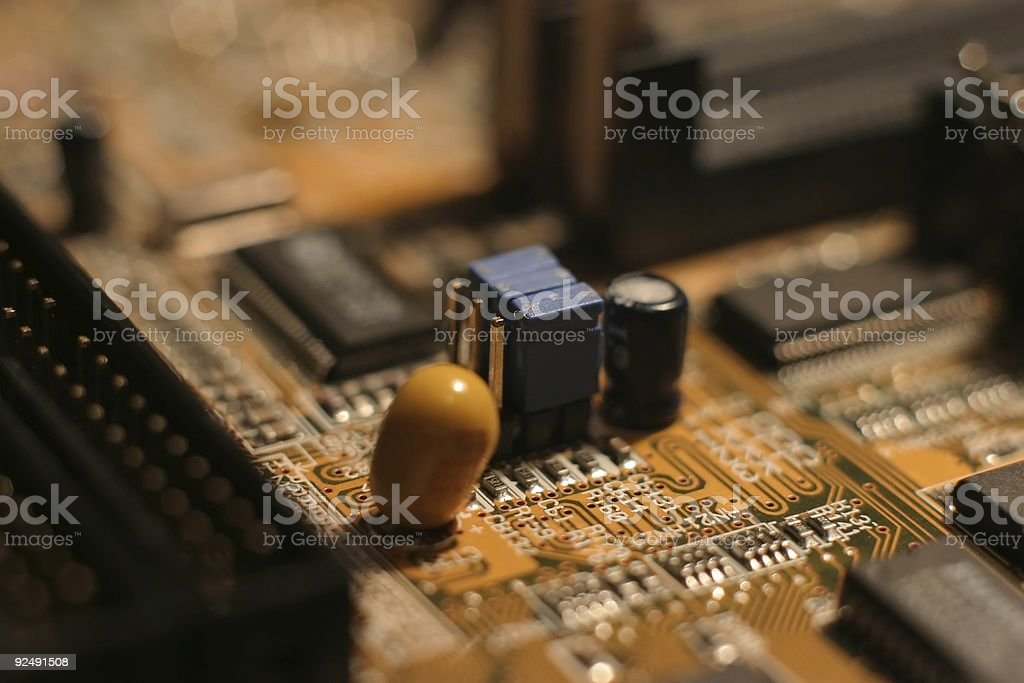 Motherboard electronics - color royalty-free stock photo